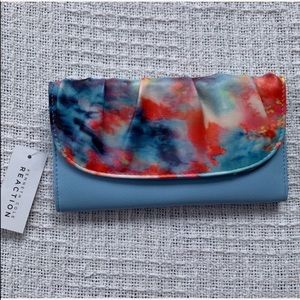 KENNETH COLE REACTION blue/red wallet for women
